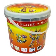 Magplayer MAGPLAYER 46 pieces basic set of parts storage bucket set wheel part with storage bucket Magformer MAGFORMERS magnet block educational toy nurture creativity imagination force magnet puzzle block ?46 pieces?