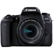Digitale spiegelreflexcamera Canon EOS 77D Incl. EF-S 18-55 mm IS STM lens 24.2 Mpix Zwart Bluetooth