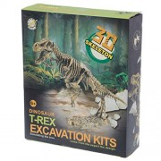 Misright Discover Dinosaur Kit Skeleton Bones Model Excavation Archaeology Toy Kid Gift
