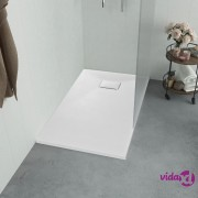 vidaXL Kada za tuš SMC bijela 100 x 80 cm
