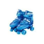 Roller Skate Patins Ajustável Azul 39 A 41 Fênix