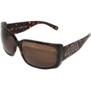TOMMY HILFIGER Over-sized, Rectangular Sunglasses(Brown)