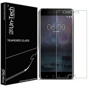 Un-Tech Tempered Glass Screen Protector for Nokia 6 with Installation Kit