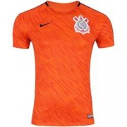 Nike Camisa de Treino do Corinthians 2018 Nike - Masculina - LARANJA/PRETO