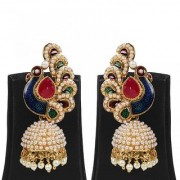 Jewels Gehna Fashion Designer Party Wear For Wedding Traditional Stone Stylish Jhumki Earring Set For Women Girls