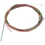 ER Coloridos 1-6 EBGDAE Rainbow Cuerdas Coloridas Conjunto Para Guitarra Acústica