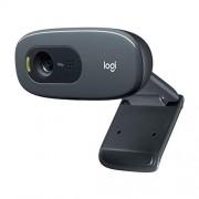 Logitech C270 HD - Webcam voor videoconferenties met breedbeeld, microfoonruisreductie en automatische lichtcorrectie, zwart