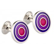 Mousie Bean Enamelled Cufflinks Target 039 Tonal Purple