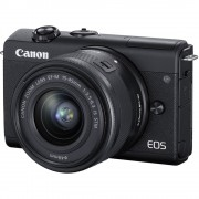 Canon EOS M200 Aparat Foto Mirrorless 24.1MP 4K Kit cu Obiectiv 15-45mm F3.5-6.3 IS Negru