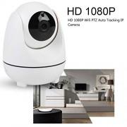 Tangxi Cámara Domo PTZ HD 1080P, 1080P WiFi 360 ° Panorámica Vista Seguimiento automático PTZ IP Visión Nocturna Alarma Cámara de Monitor de detección de Movimiento(US)