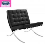 Barcelona fauteuil Zwart