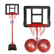 Lldaily Indoor/Outdoor Mini Basketball Stands,Adjustable Portable Basketball System for Kids 185cm/73inches