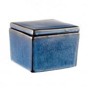 Caixa Quadrada Pond 9 cm Azul