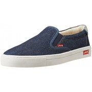 Levis Men's Kerman Low Blue Denim Sneakers - 8 UK