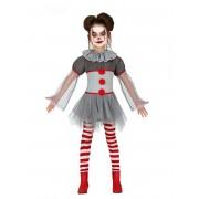 Deguisetoi Déguisement clown psychopathe legging fille - Taille: 3 à 4 ans (95-105 cm)