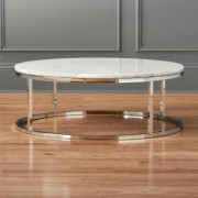 Smart Round Marble Top Coffee Table by CB2