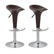 vidaXL Bar Stools 2 pcs Plastic Brown