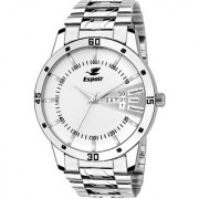 Espoir Analog Stainless Steel Day and Date White Dial Men's Watch - SamWhite0507