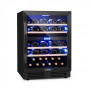 Klarstein Vinovilla Onyx 43, винен охладител с двойна зона, 129 л, 43 бутилки, 3 цвята (HEA8-Vino-O43)