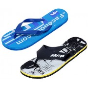 Indistar Men Step Care Comfortable Flip Flop House Slipper And Hawaai Chappal (Pack Of 2 Pairs)-Assorted_Multiple color_Size-7