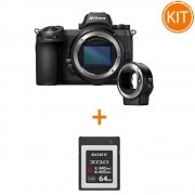 Kit Nikon Z6 Body si Adaptor FTZ + Card Memorie Sony XQD Seria G 64GB