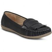 Kielz-Black-Slip-On-Women's-Loafers