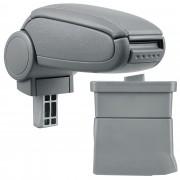 Подлакътник [pro.tec]® Ford Ka с контейнер за съхранение, Изкуствена кожа, Сив