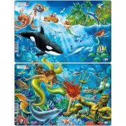 Set 2 Puzzle-uri Sirene Larsen, 15 piese