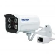ESCAM Brick QD300 H.264 Dual Stream 3.6mm dag / nacht waterdicht IP-Camera ondersteuning van mobiele Detection(White)