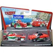 Disney / Pixar CARS 2 Movie Exclusive 155 Die Cast Car 2Pack Francesco Bernoulli Francescos Crew Chief