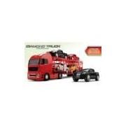 Caminhão Cegonheira Diamond Truck Com 4 Pickups 1321 - Roma Brinquedos