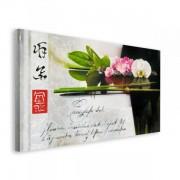 Feng Shui w Czerni - obraz na płótnie