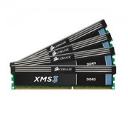 Memorie Corsair XMS 16GB (4x4GB) DDR3, 1333MHz, PC3-10600, CL9, Dual Channel, Quad Kit, CMX16GX3M4A1333C9