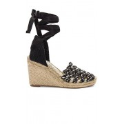 Free People Amalfi Coast Wedge in Black. - size 38 (also in 36,37,39,40)