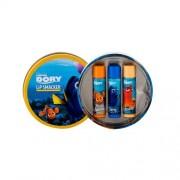 Lip Smacker Disney Finding Dory zestaw Balsam do ust 3 x 4 g + Metalowe opakowanie dla dzieci