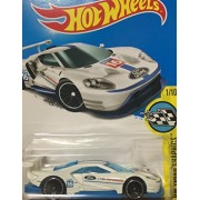 HOT WHEELS Hot Wheels 2016 ford GT race Ford race white # 247