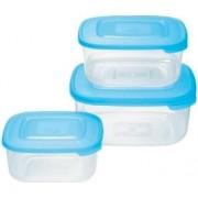 tontarelli 9040637787 Set 3 Contenitori 2.5-1.5-0.95 Litri Frigo Box Plastica Per Alimenti Azzurro - 9040637787