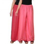 Culture the Dignity Women's Rayon Solid Palazzo Pants Palazzo Trousers Combo of 2 - Pink - Baby Pink - C_RPZ_PP2 - Pack of 2 - Free Size