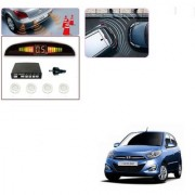 Auto Addict Car White Reverse Parking Sensor With LED Display For Hyundai i10