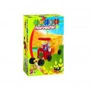 Set de constructie Fiul Fermierului Clics Toys, 44 piese, figurina inclusa