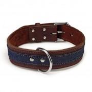 Beeztees Dog Collar Denim Leather Brown 45 mm 52-61 cm 745946