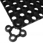 vidaXL 10 db gumi lábtörlő összekapcsoló elem fekete