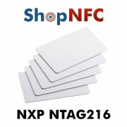 Tessere NFC in PVC bianche NTAG216