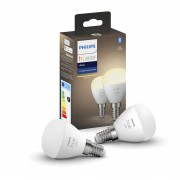 Philips Hue kogellamp - warmwit - E14 (2-pack)