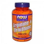 Аргинин и Орнитин - Arginine & Ornithine - 100 капсули - NOW FOODS, NF0040