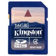 Kingston SDHC Class 4 Secure Digital (SDHC) Scheda di memoria SD 16 GB