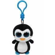 Breloc din plus TY Boos 8.5 cm - Pinguinul Waddles