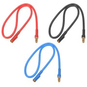 30cm 16AWG 3.5mm Banana Male Female Plug Extension Cable Soft Silicone Wire