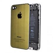 iPhone 4 Bakstycke Borstad Stål (Guld)