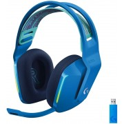HEADPHONES, LOGITECH G733 LIGHTSPEED, Gaming, Microphone, Wireless, RGB, Blue (981-000943)